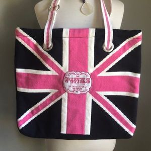 Pink world Tour Tote Union Jack Flag